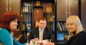 Голова РДА Микола Пасько на прес-конференції